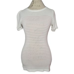 G Star Woman Trust Boat Neck Striped Knit Top MED